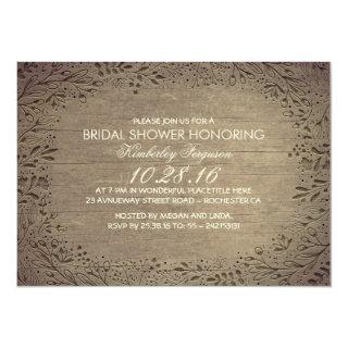rustic vintage floral botanical bridal shower Invitations