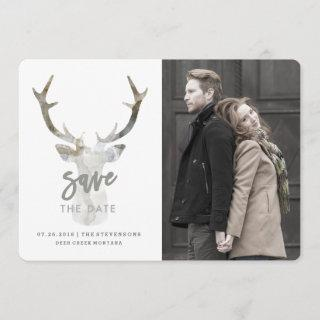 RUSTIC WATERCOLOR DEER | SAVE THE DATE