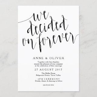 Rustic Wedding Invitation | We Decided on Forever
