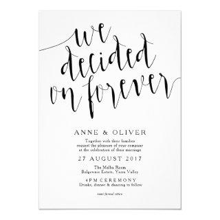 Rustic Wedding Invitations | We Decided on Forever