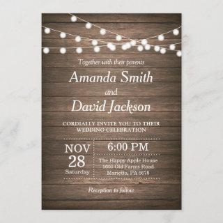 Rustic Wedding Invitations Wood Country Vintage