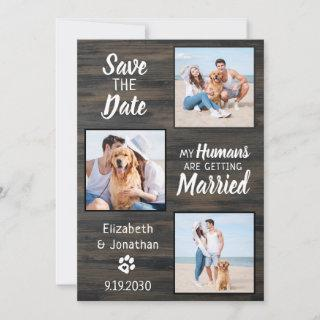 Rustic Wedding Pet Photo Dog Save The Date