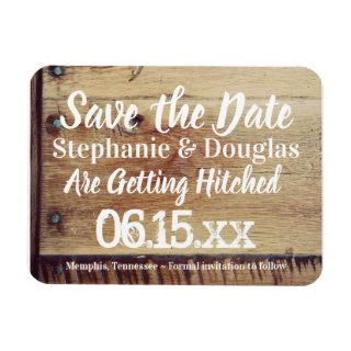 Rustic Wedding Save the Date Flexible Photo Magnet