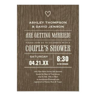 Rustic Wedding Shower Invitations