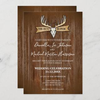 Rustic Wedding The Hunt Is Over Invitation