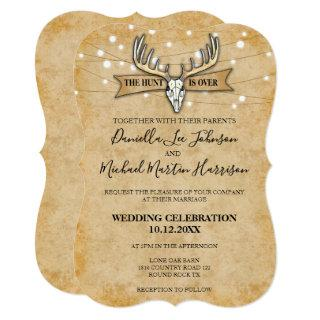 Rustic Wedding The Hunt Is Over Invitations
