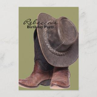 rustic western country rodeo cowboy boots