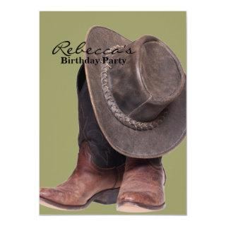 rustic western country rodeo cowboy boots Invitations