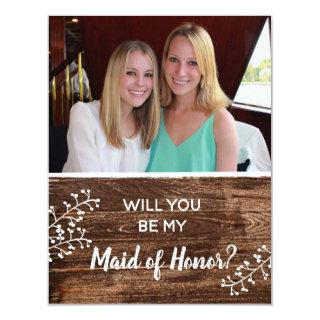Rustic | Will You Be My Maid of Honor Photo Invitations