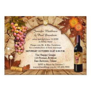 Rustic Wine Elope or Post Wedding Party Invitations
