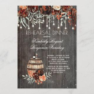 Rustic Winery Floral Lights Rehearsal Dinner