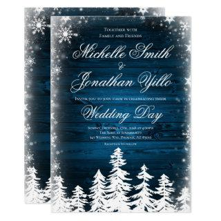 Rustic Winter Snowflake Wedding Invitations