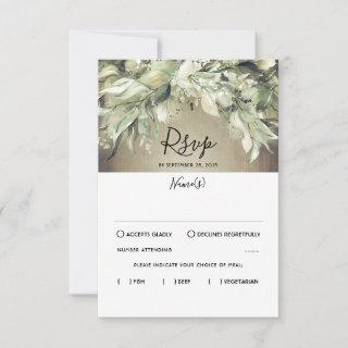 Rustic Wood and Greenery Wedding RSVP