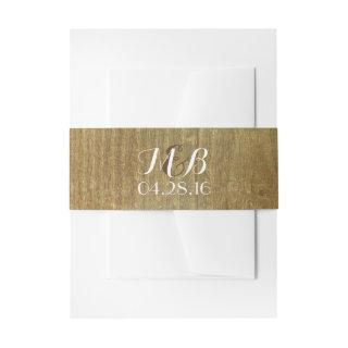 Rustic Wood Barn Wedding Belly Bands Invitation Belly Band