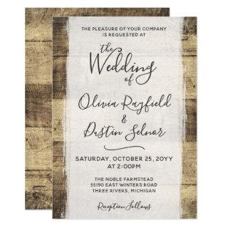 Rustic Wood Wedding Invitation | Country Farm Barn