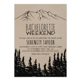 Rustic Woodsy Mountain Bachelorette Weekend Invitations