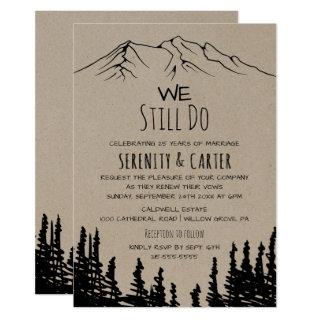 Rustic Woodsy Mountain Vow Renewal Invitations