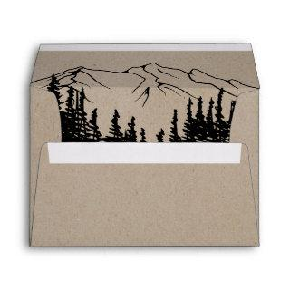 Rustic Woodsy Mountain Wedding Invitations Envelope