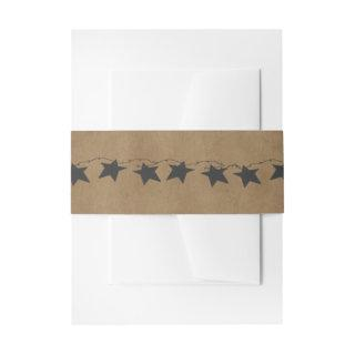 Rusty Stars Belly Bands Invitation Belly Band