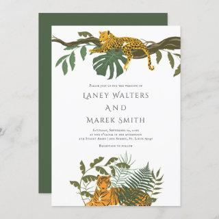 Safari Jungle Animal Wedding Invitation
