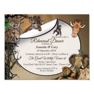 Safari Outdoor Rehearsal Dinner Invitation