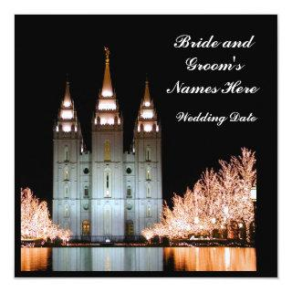 SaltLakeTemple-InvitationsToWeddingReception Invitations
