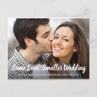 Same Love Smaller Downsized Wedding Simple Photo Announcement Postcard