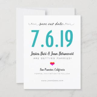San Francisco Wedding Date Large Numbers Save The Date