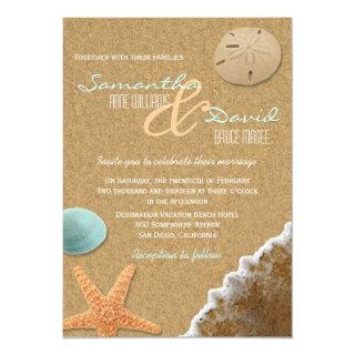Sand and Shells Beach Wedding Invitations
