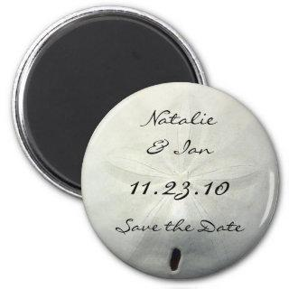 Sand Dollar Save the Date Beach Wedding Magnet