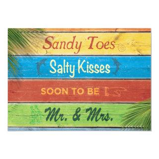 Sandy Toes Salty Kisses Couple's Shower Invitations