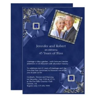 Sapphire 45th Wedding Anniversary Invitations