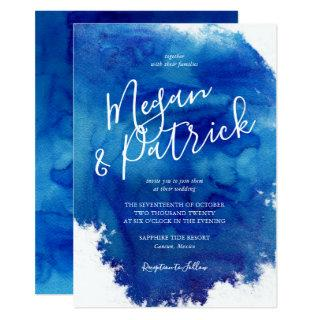 Sapphire Tide Wedding Invitation