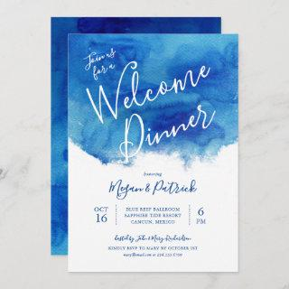 Sapphire Tide Wedding Welcome Dinner Invitations