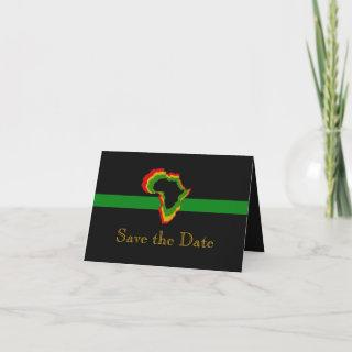 """Save the Date"" Africa w/ Pan African Colors [1] Invitation"