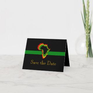 """""""Save the Date"""" Africa w/ Pan African Colors [1]"""