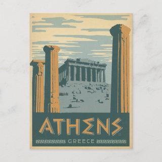 Save the Date | Athens, Greece Announcement Postcard