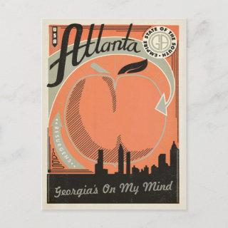 Save the Date | Atlanta, GA Announcement Postcard