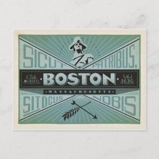 Save the Date | Boston, MA - Settled 1630 Announcement Postcard