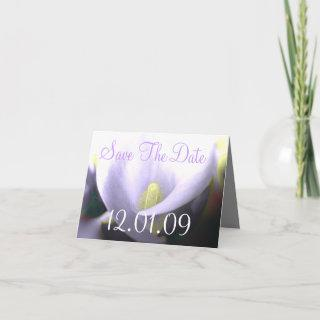 Save the Date Cala Lily - Lavender and Yellow Announcement