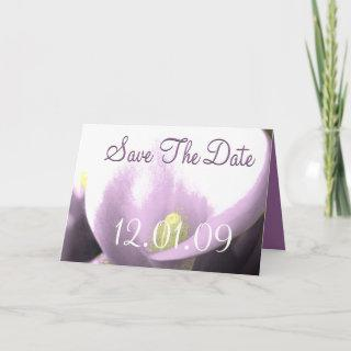Save the Date Cala Lily - Purple-Lavender Announcement