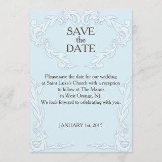 SAVE THE DATE CARD- CUSTOMIZE DATE, MESSAGE, COLOR