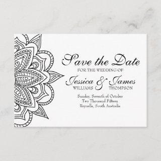 Save the Date Card Tribal Indian Inspired Wedding