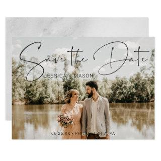 Save The Date Card with Photo Card