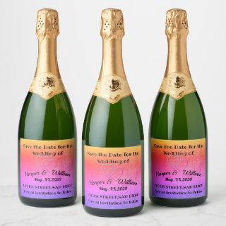 Save the Date Champagne Label