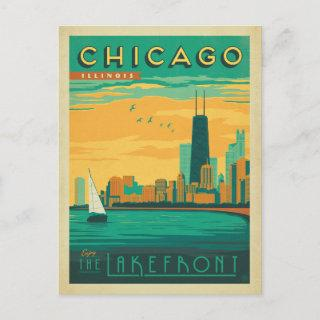 Save the Date   Chicago, IL - Enjoy the Lakefront Announcement Postcard