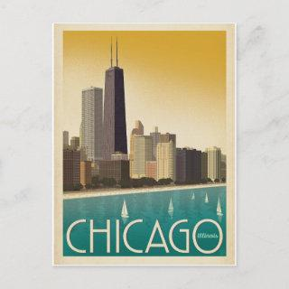 Save the Date   Chicago, IL - Skyline Announcement Postcard