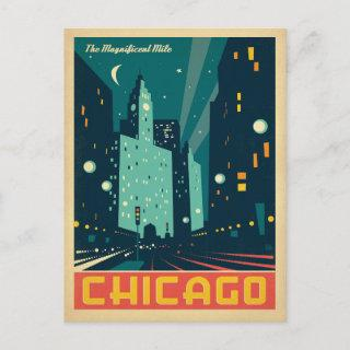 Save the Date   Chicago, IL The Magnificent Mile Announcement Postcard