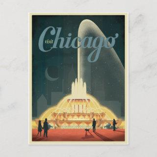 Save the Date   Chicago, IL - Visit Chicago Announcement Postcard
