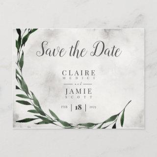 Save The Date, Classic RUSTIC Holiday Postcard